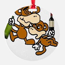 drunken monkeys! Ornament