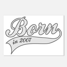 Born in 2007 - Birthday Postcards (Package of 8)