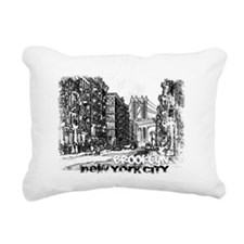New York City, Brooklyn  Rectangular Canvas Pillow
