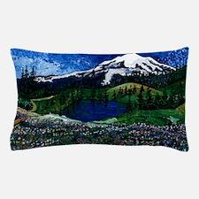 Mt Rainier with Blue Sky Pillow Case