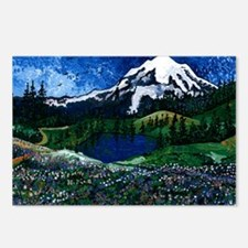 Mt Rainier with Blue Sky Postcards (Package of 8)
