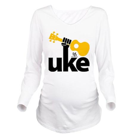 Uke Fist Long Sleeve Maternity T-Shirt