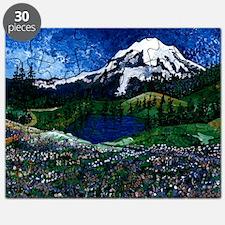Mt Rainier with Blue Sky Puzzle