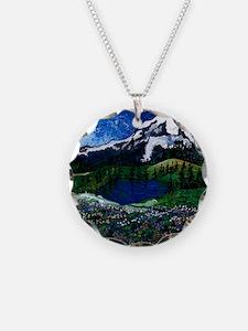 Mt Rainier with Blue Sky Necklace