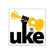 "Uke Fist Square Sticker 3"" x 3"""