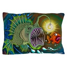 Angler Fish Pillow Case