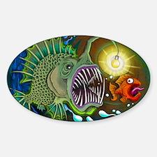 Angler Fish Sticker (Oval)