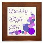 Daddy's Little Girl Framed Tile