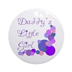 Daddy's Little Girl Ornament (Round)