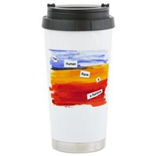 Human Race Is A Rainbow Travel Mug