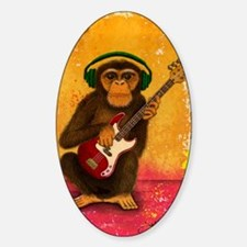 Funky Monkey Bass Player Decal