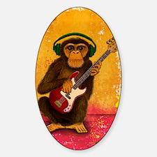 Funky Monkey Bass Player Sticker (Oval)
