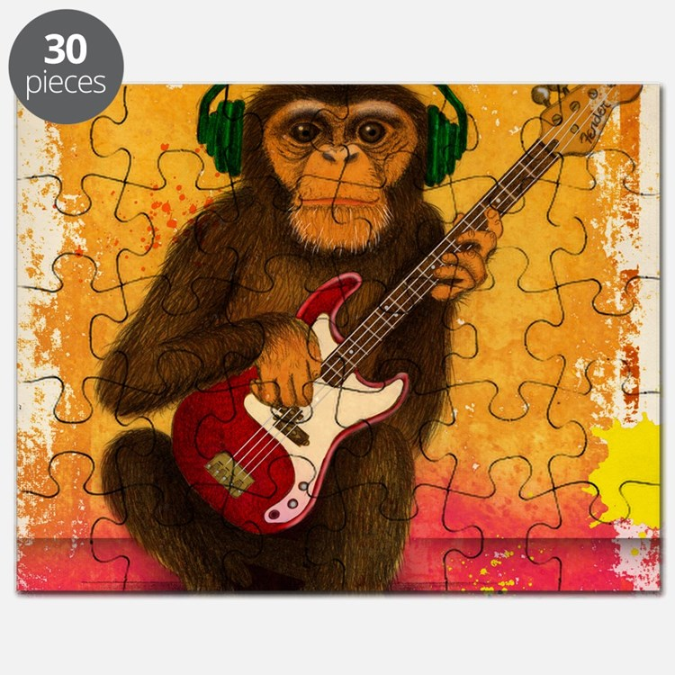 Funky Monkey Bass Player Puzzle
