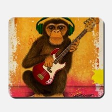 Funky Monkey Bass Player Mousepad