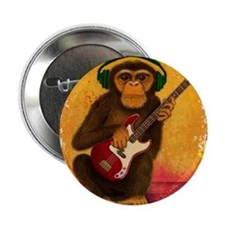 "Funky Monkey Bass Player 2.25"" Button"