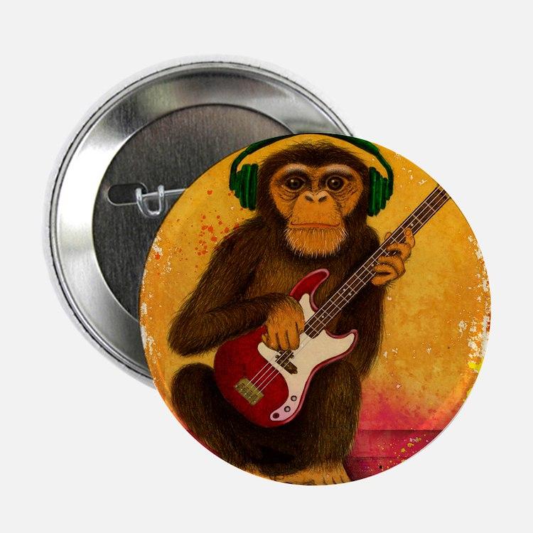 "Funky Monkey Bass Player 2.25"" Button"
