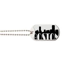 Boston Skyline Dog Tags