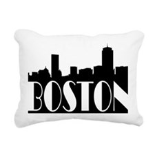 Boston Skyline Rectangular Canvas Pillow