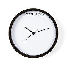 I need a car . Wall Clock