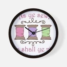 As Ye Sew Wall Clock