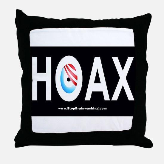 Obama Hoax Throw Pillow