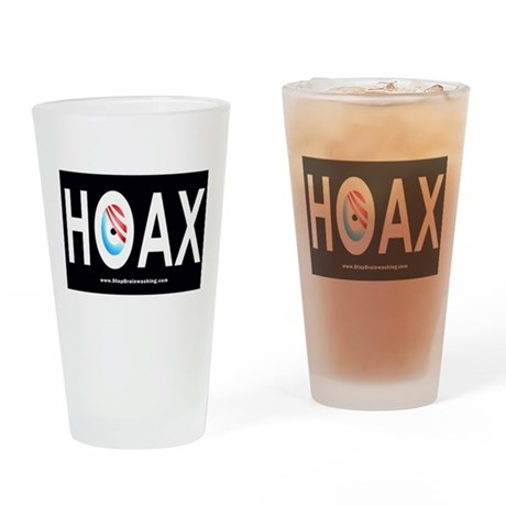 Obama Hoax Drinking Glass