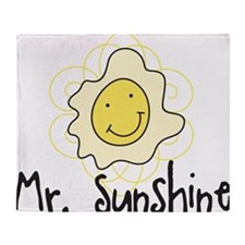 Mr. Sunshine Throw Blanket