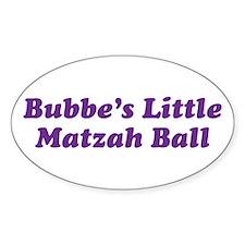 Little Matzah Ball Oval Decal