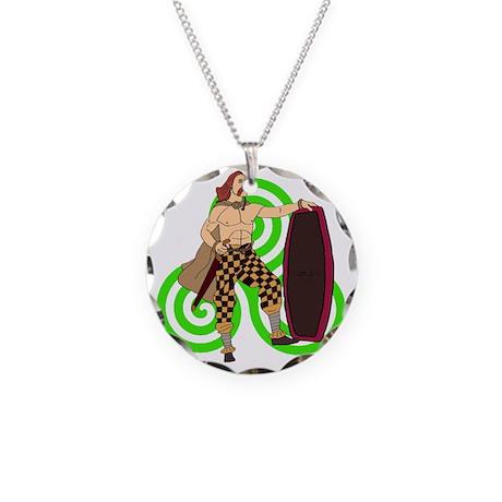 Celtic Warrior Necklace Circle Charm