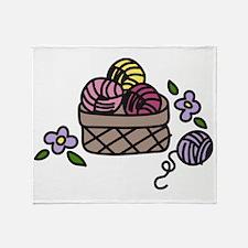 Knitting Yarn Throw Blanket