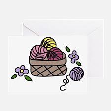 Knitting Yarn Greeting Card