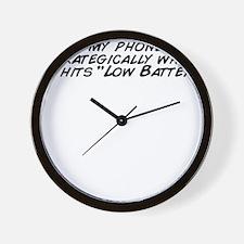 I use my phone very strategically when  Wall Clock
