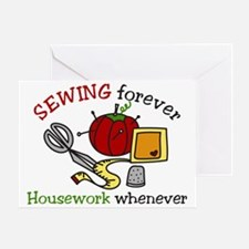 Sewing Forever Greeting Card