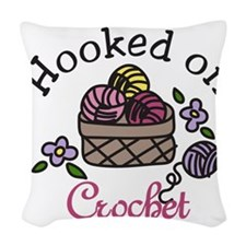 Hooked On Crochet Woven Throw Pillow
