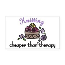 Cheaper Than Therapy Rectangle Car Magnet