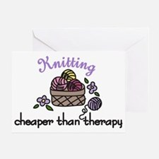 Cheaper Than Therapy Greeting Card