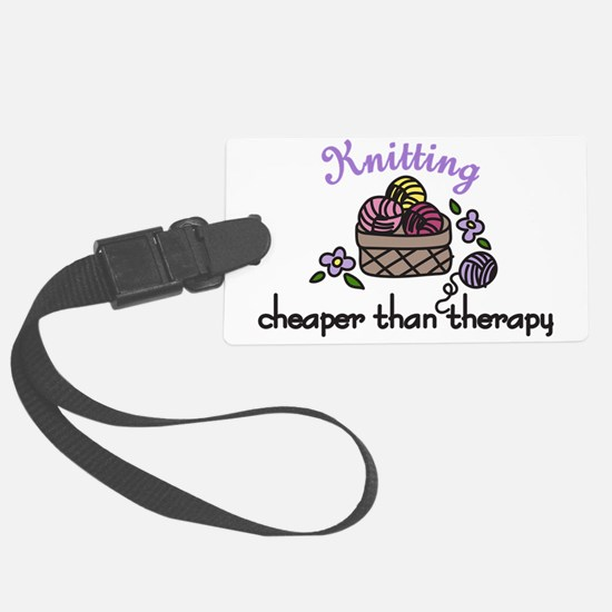 Cheaper Than Therapy Luggage Tag