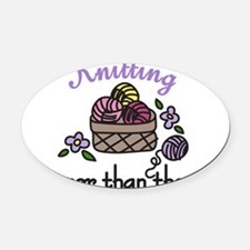 Cheaper Than Therapy Oval Car Magnet