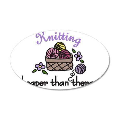 Cheaper Than Therapy 35x21 Oval Wall Decal