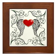 WINGED HEART SKULLS Framed Tile
