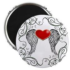 WINGED HEART SKULLS Magnet