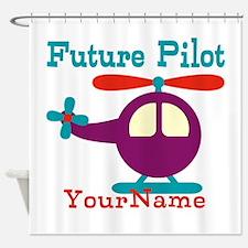 Future Pilot - Personalized Shower Curtain