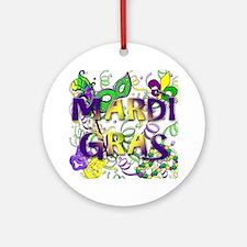 MARDI GRAS Round Ornament
