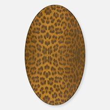 Leopard Skin Sticker (Oval)