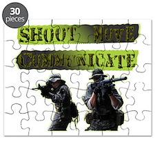 Shoot Move Communicate Puzzle