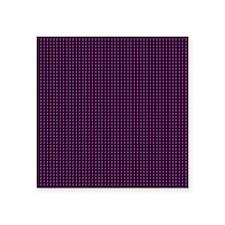 "plain black and purple  Square Sticker 3"" x 3"""