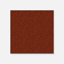 "plain rust  Square Sticker 3"" x 3"""