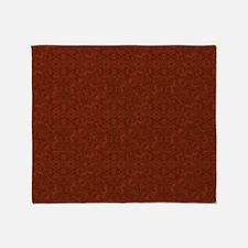 plain rust  Throw Blanket