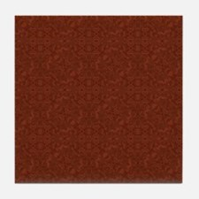 plain rust  Tile Coaster