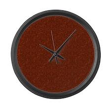 plain rust  Large Wall Clock